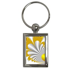 Fractal Gold Palm Tree  Key Chains (rectangle)  by Amaryn4rt
