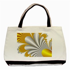 Fractal Gold Palm Tree  Basic Tote Bag by Amaryn4rt