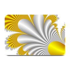 Fractal Gold Palm Tree  Plate Mats by Amaryn4rt