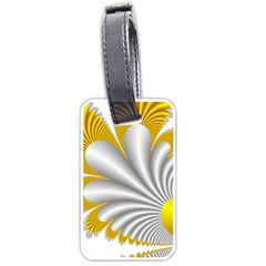 Fractal Gold Palm Tree  Luggage Tags (one Side)  by Amaryn4rt