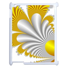 Fractal Gold Palm Tree  Apple Ipad 2 Case (white) by Amaryn4rt