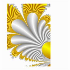 Fractal Gold Palm Tree  Small Garden Flag (two Sides)