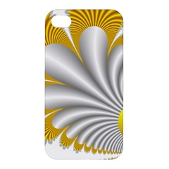 Fractal Gold Palm Tree  Apple Iphone 4/4s Premium Hardshell Case by Amaryn4rt