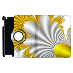 Fractal Gold Palm Tree  Apple Ipad 3/4 Flip 360 Case by Amaryn4rt