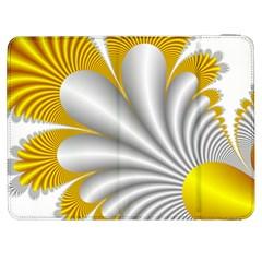 Fractal Gold Palm Tree  Samsung Galaxy Tab 7  P1000 Flip Case