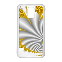 Fractal Gold Palm Tree  Samsung Galaxy S5 Case (white) by Amaryn4rt