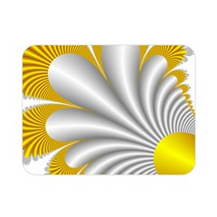 Fractal Gold Palm Tree  Double Sided Flano Blanket (mini)  by Amaryn4rt