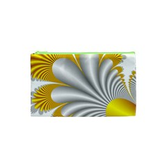 Fractal Gold Palm Tree  Cosmetic Bag (xs) by Amaryn4rt