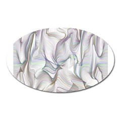 Abstract Background Chromatic Oval Magnet by Amaryn4rt