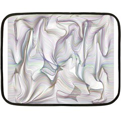 Abstract Background Chromatic Double Sided Fleece Blanket (mini)  by Amaryn4rt