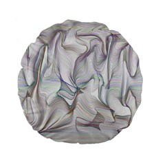Abstract Background Chromatic Standard 15  Premium Round Cushions by Amaryn4rt