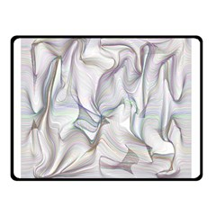 Abstract Background Chromatic Double Sided Fleece Blanket (small)