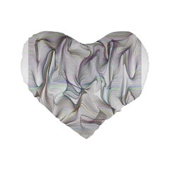 Abstract Background Chromatic Standard 16  Premium Flano Heart Shape Cushions
