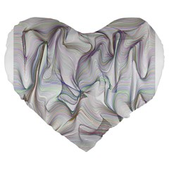 Abstract Background Chromatic Large 19  Premium Flano Heart Shape Cushions