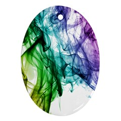 Colour Smoke Rainbow Color Design Ornament (oval)