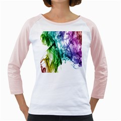 Colour Smoke Rainbow Color Design Girly Raglans