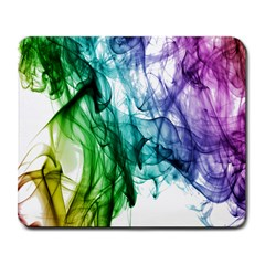 Colour Smoke Rainbow Color Design Large Mousepads