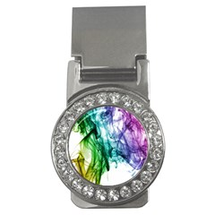 Colour Smoke Rainbow Color Design Money Clips (cz)  by Amaryn4rt