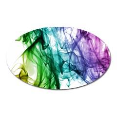 Colour Smoke Rainbow Color Design Oval Magnet