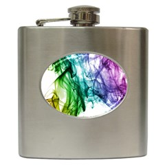 Colour Smoke Rainbow Color Design Hip Flask (6 Oz)