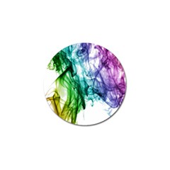 Colour Smoke Rainbow Color Design Golf Ball Marker