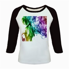 Colour Smoke Rainbow Color Design Kids Baseball Jerseys