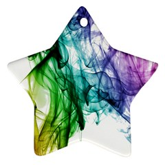 Colour Smoke Rainbow Color Design Star Ornament (two Sides)