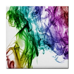 Colour Smoke Rainbow Color Design Face Towel
