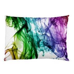 Colour Smoke Rainbow Color Design Pillow Case (two Sides) by Amaryn4rt