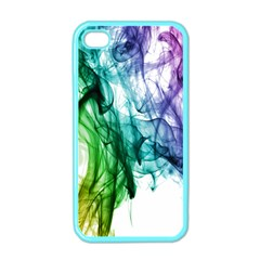 Colour Smoke Rainbow Color Design Apple Iphone 4 Case (color) by Amaryn4rt