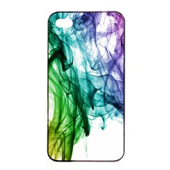 Colour Smoke Rainbow Color Design Apple Iphone 4/4s Seamless Case (black)
