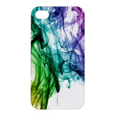 Colour Smoke Rainbow Color Design Apple Iphone 4/4s Hardshell Case by Amaryn4rt