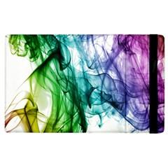 Colour Smoke Rainbow Color Design Apple Ipad 2 Flip Case