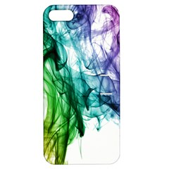 Colour Smoke Rainbow Color Design Apple Iphone 5 Hardshell Case With Stand by Amaryn4rt