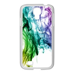 Colour Smoke Rainbow Color Design Samsung Galaxy S4 I9500/ I9505 Case (white)