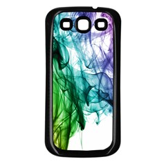 Colour Smoke Rainbow Color Design Samsung Galaxy S3 Back Case (black)