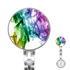 Colour Smoke Rainbow Color Design Stainless Steel Nurses Watch