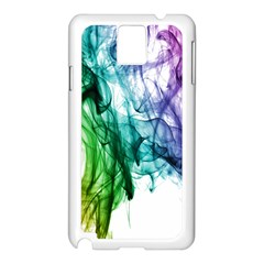 Colour Smoke Rainbow Color Design Samsung Galaxy Note 3 N9005 Case (white)