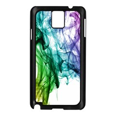 Colour Smoke Rainbow Color Design Samsung Galaxy Note 3 N9005 Case (black)