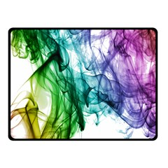 Colour Smoke Rainbow Color Design Double Sided Fleece Blanket (small)