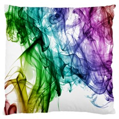 Colour Smoke Rainbow Color Design Large Flano Cushion Case (one Side)