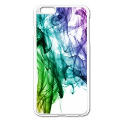 Colour Smoke Rainbow Color Design Apple Iphone 6 Plus/6s Plus Enamel White Case
