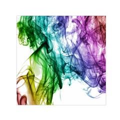 Colour Smoke Rainbow Color Design Small Satin Scarf (square)