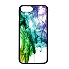 Colour Smoke Rainbow Color Design Apple Iphone 7 Plus Seamless Case (black)