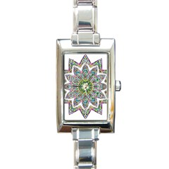 Decorative Ornamental Design Rectangle Italian Charm Watch