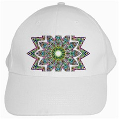 Decorative Ornamental Design White Cap
