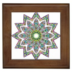 Decorative Ornamental Design Framed Tiles by Amaryn4rt