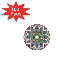 Decorative Ornamental Design 1  Mini Buttons (100 Pack)