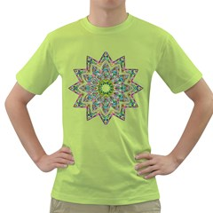 Decorative Ornamental Design Green T Shirt