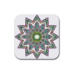Decorative Ornamental Design Rubber Square Coaster (4 Pack)  by Amaryn4rt